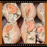 Stuffed Shells with Shrimp in White Sauce